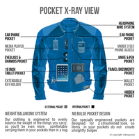 Viking Cycle Asger Motorcycle Jacket for Men X-Ray View