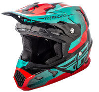 Fly Racing Youth Toxin Helmet Teal/Red