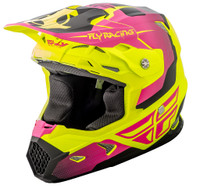 Fly Racing Youth Toxin Helmet Pink/Yellow