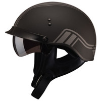 GMax GM65 Twin Full Dressed Half Helmet Silver