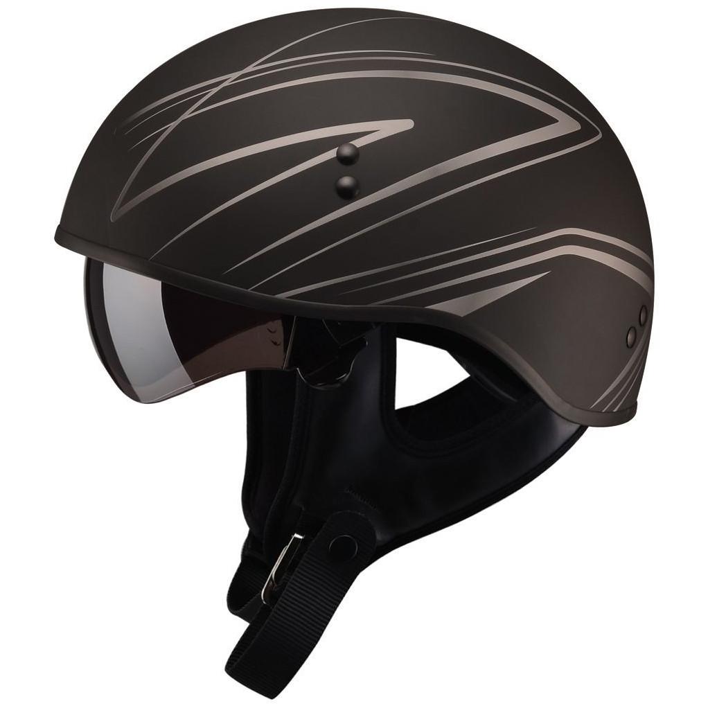 Gmax HH-65 Half Helmet Torque Naked Matte Black Pink | eBay