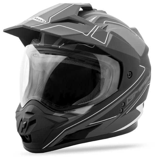 GMax GM11 Expedition Helmet Black/Silver