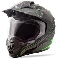 GMax GM11 Expedition Helmet Black/Green