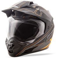 GMax GM11 Expedition Helmet Black/Orange
