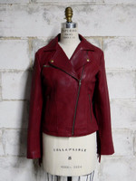 First Classics Women's Daisy Fringe Jacket OXBlood Main View