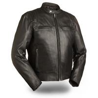 First classics Carbon Men's Black Scooter Jacket