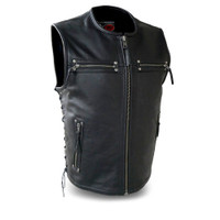 First Classics Men's Brawler Leather Vest Main View
