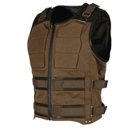 Speed and Strength Men's True Grit Armored Vest Brown Front View