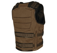 Speed and Strength Men's True Grit Armored Vest Brown Back View