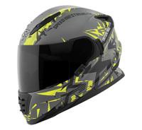Speed and Strength SS1600 Critical Mass Helmet Hi-Vis/Grey/Black View