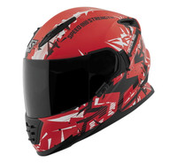 Speed and Strength SS1600 Critical Mass Helmet Red/White/Black Main View