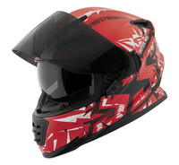 Speed and Strength SS1600 Critical Mass Helmet Red/White/Black Open View