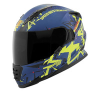 Speed and Strength SS1600 Critical Mass Helmet Blue/Yellow/Black View