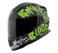 Speed and Strength SS1310 Bikes Are In My Blood Helmet Green/Black View