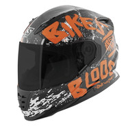 Speed and Strength SS1310 Bikes Are In My Blood Helmet Gloss Black/Orange View