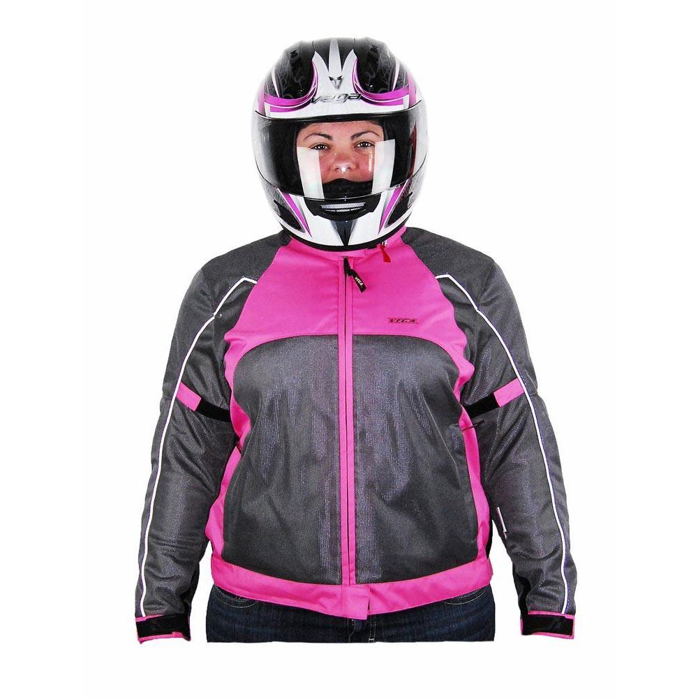 Vega Mercury Ladies Mesh Pink Jacket - Motorcycle House