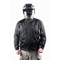 Vega Mercury Mens Mesh Black Jacket 1