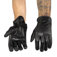 Viking Cycle Men's Premium Leather Standard Motorcycle Cruiser Gloves 1