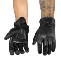 Viking Cycle Men's Premium Leather Standard Motorcycle Cruiser Gloves 1