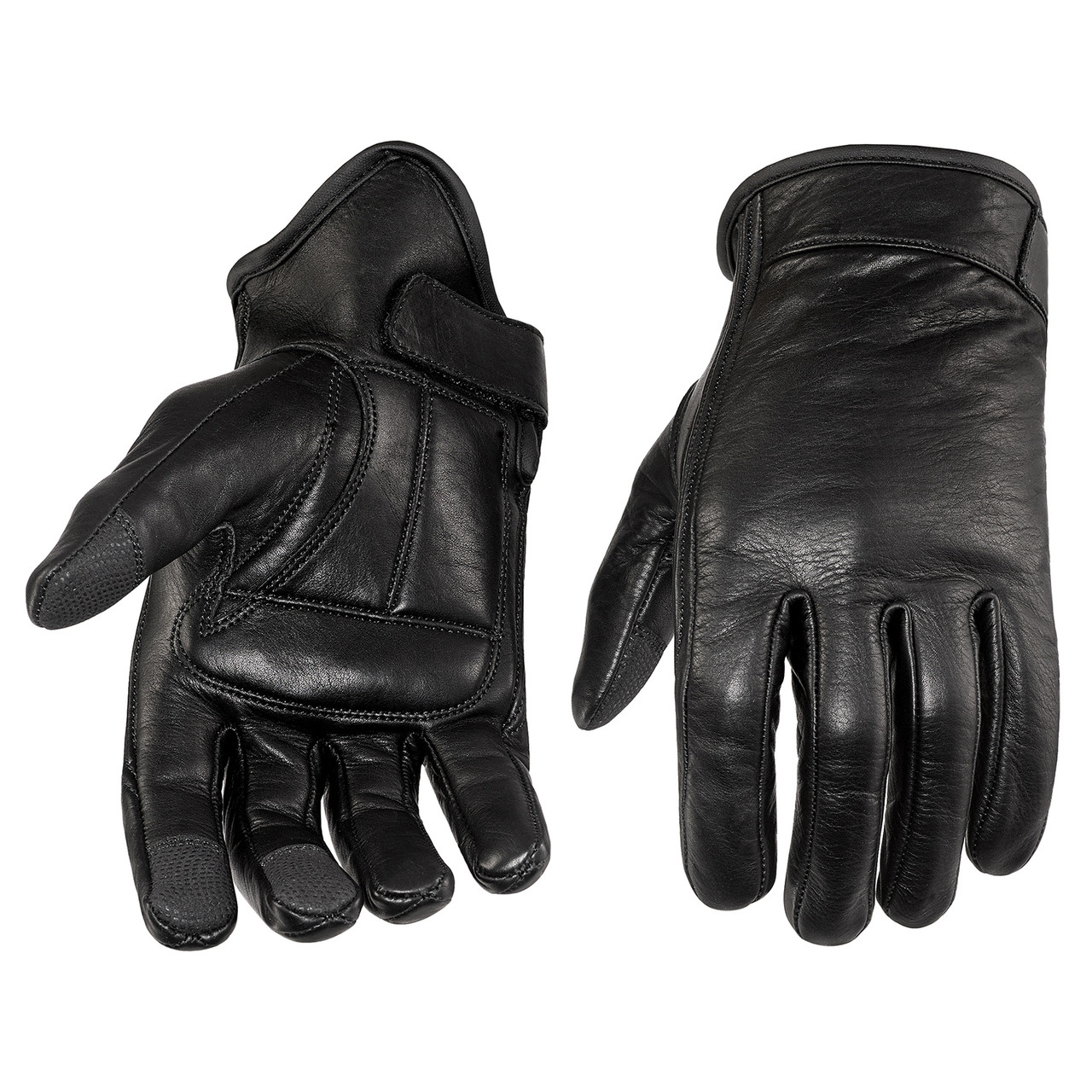 Men/'s Premium Leather Motorcycle Cruiser Touring Biker Gel Gloves
