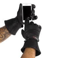 Viking Cycle Men's Premium Leather Gauntlet Motorcycle Cruiser Gloves 2