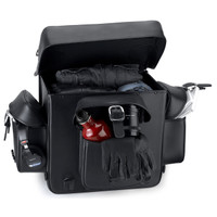 Nomad USA Revival Series Motorcycle Sissy Bar Bag Inside Opening View