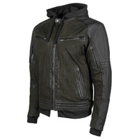 Speed and Strength Men's Straight Savage Leather-Canvas Jacket