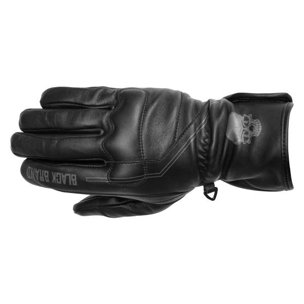 Black Brand Men's Pinstripe Gauntlet Gloves Main View