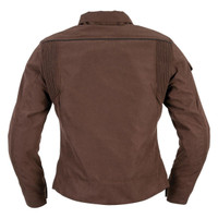 Black Brand Women's Roxxy Textile Jacket Brown Back View