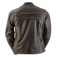 Black Brand Women's Vintage Rebel Leather Jacket Back View