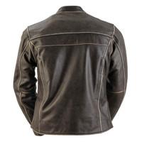 Black Brand Women's Vintage Rebel Leather Jacket Back View