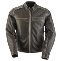 Black Brand Women's Vintage Rebel Leather Jacket Main View