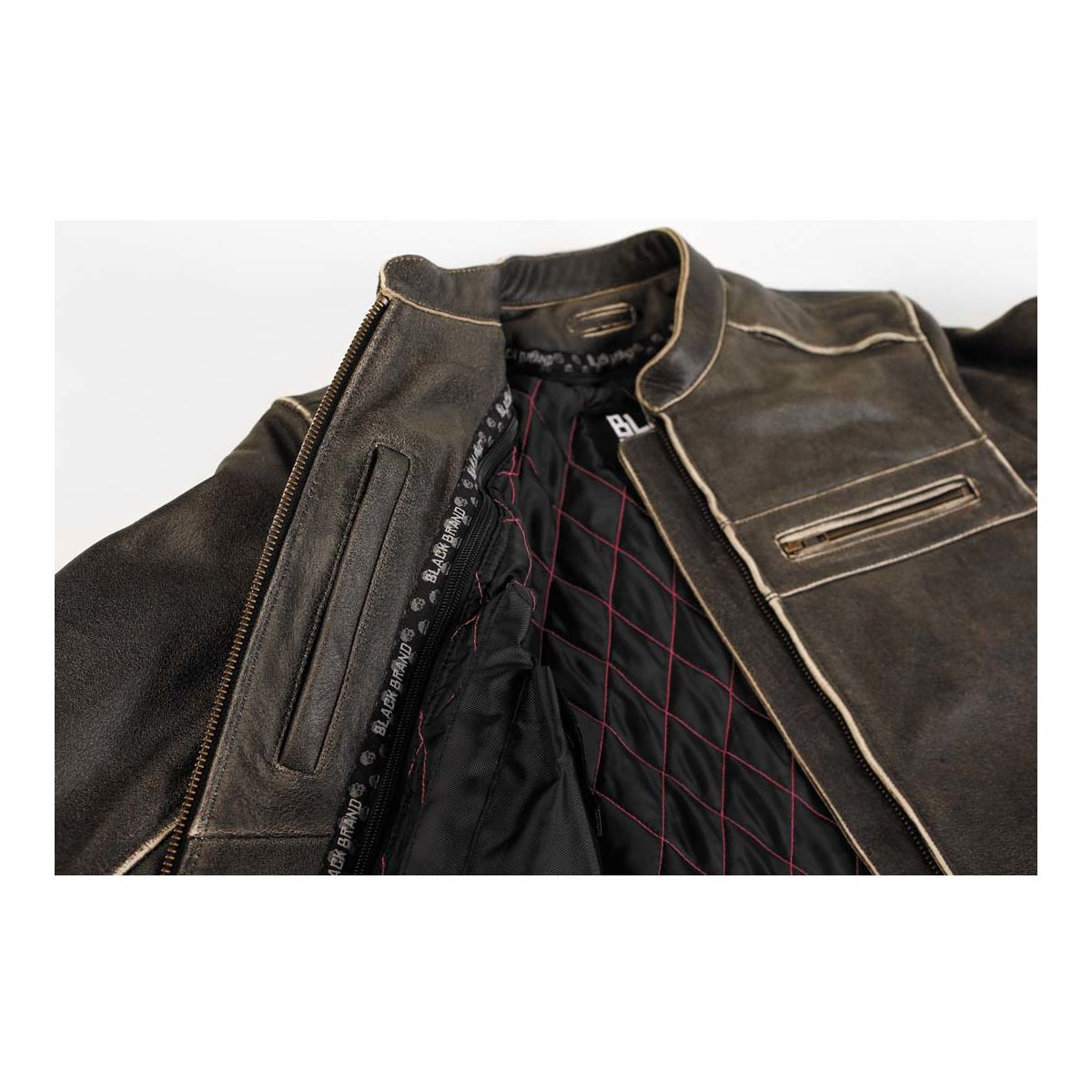 Black Brand Women S Vintage Rebel Leather Jacket Motorcycle House