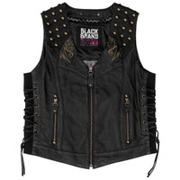 Black Brand Women's Mantra Leather Vest