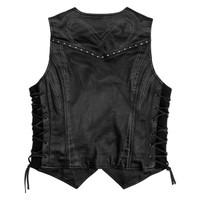 Black Brand Women's Janelle Leather Vest Back View