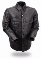First Classics Milestone Men's Lightweight Leather Shirt