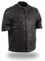 First Classics Renegade Men's Short Sleeve Leather Shirt