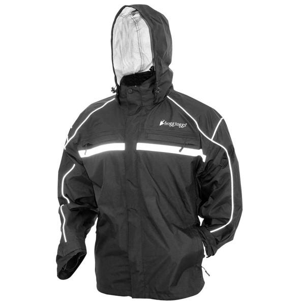 Frogg Toggs Java 2.5 Illuminator Rain Jacket Main Black View
