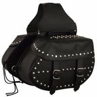 FMC Genuine Leather Studded Saddlebags
