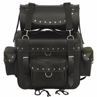 FMC Genuine Leather Studded Sissybarbag