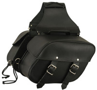 FMC Leather Double Straps Saddlebags