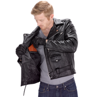Viking Cycle Dark Age Motorcycle Jacket for Men Open Jacket View