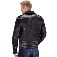 Viking Cycle Dark Age Motorcycle Jacket for Men Back View
