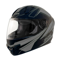 Zox Primo C Track Full Face Helmet Silver View