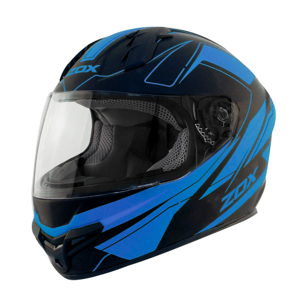 Zox Primo C Track Full Face Helmet Blue View