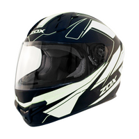 Zox Primo C Track Full Face Helmet White View