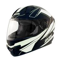 Zox Primo C Track Full Face Helmet White View