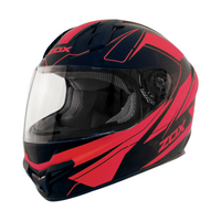 Zox Primo C Track Full Face Helmet Red View
