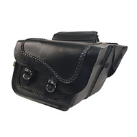 Willie & Max Braided Large Slant Saddlebag Set-SB709