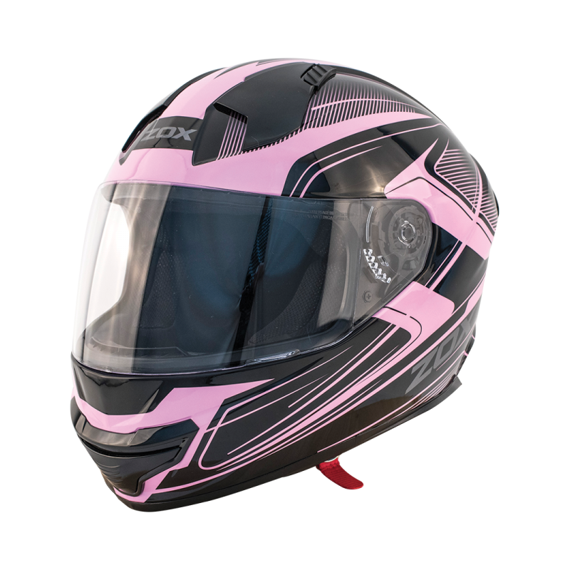 Zox 2X-Large Full Face Motorcycle Helmet Thunder R2 Force Pink